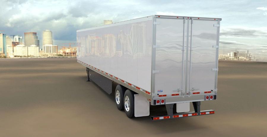 Dry Van Freight Shipping Logistics Truck