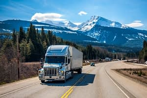 Refrigerated Freight Shipping Truck